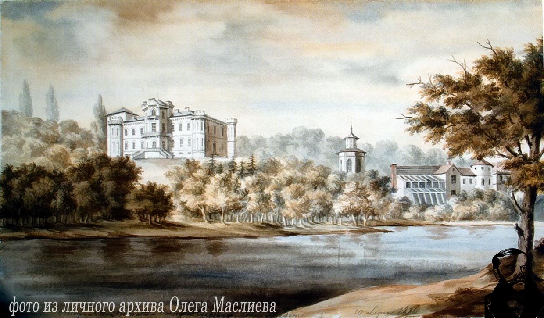 Дворец в Прилуках. Рисунок Н.Орды