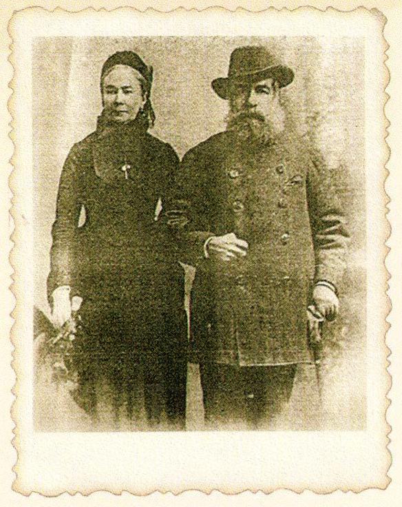 Эльжбета и Эмерик Чапские, 1895 г. Фото из книги.
