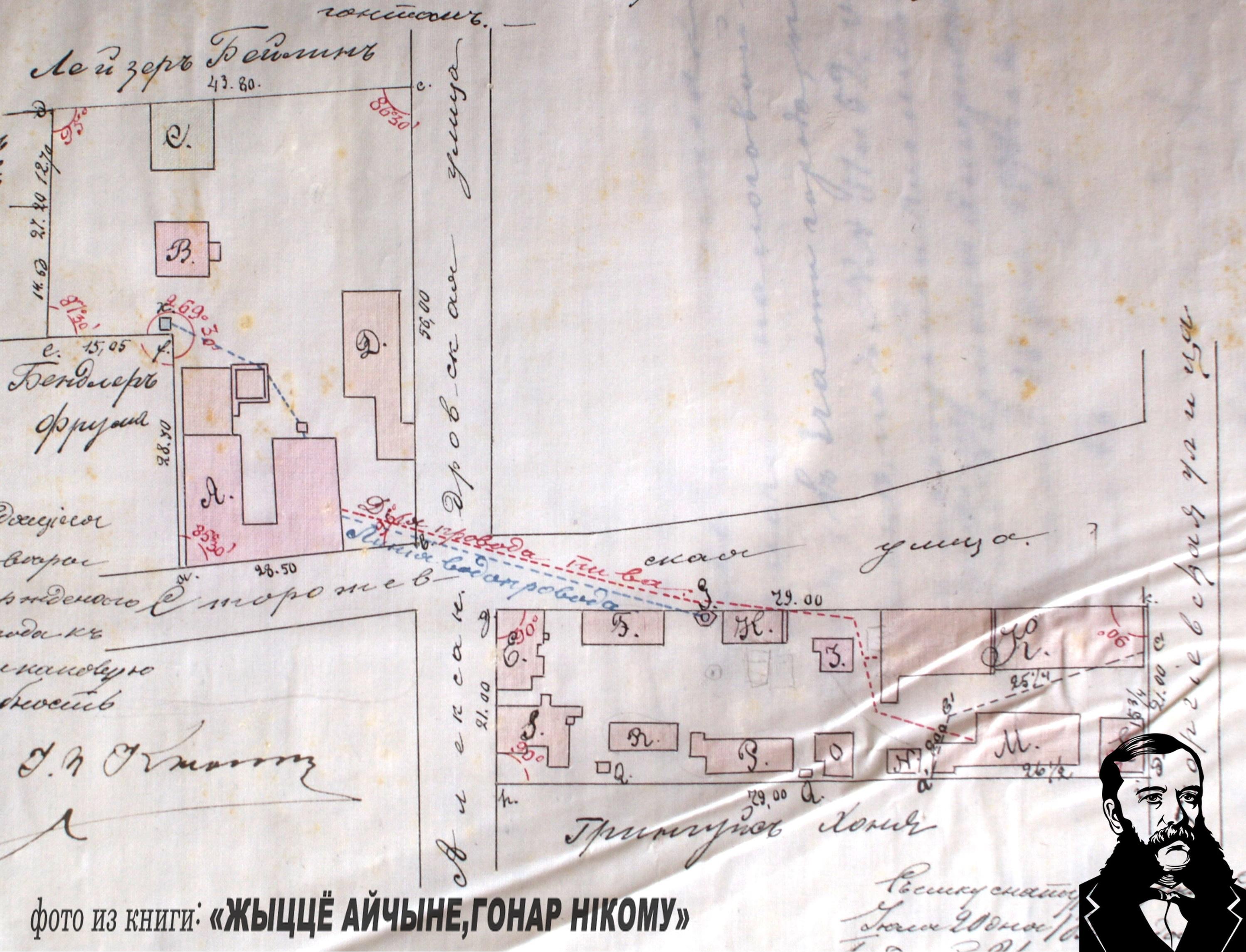 Участки, принадлежащие К.Чапскому, 1894 год. Фото из книги