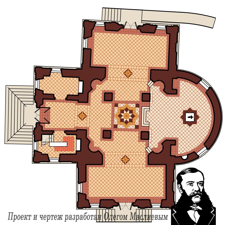 План храма в Станьково. Проект реставрации храма 2007 года.