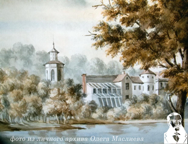 Хозфлигель с пекарней и оранжереями в Прилуках. Рисунок Н.Орда ,1876 года