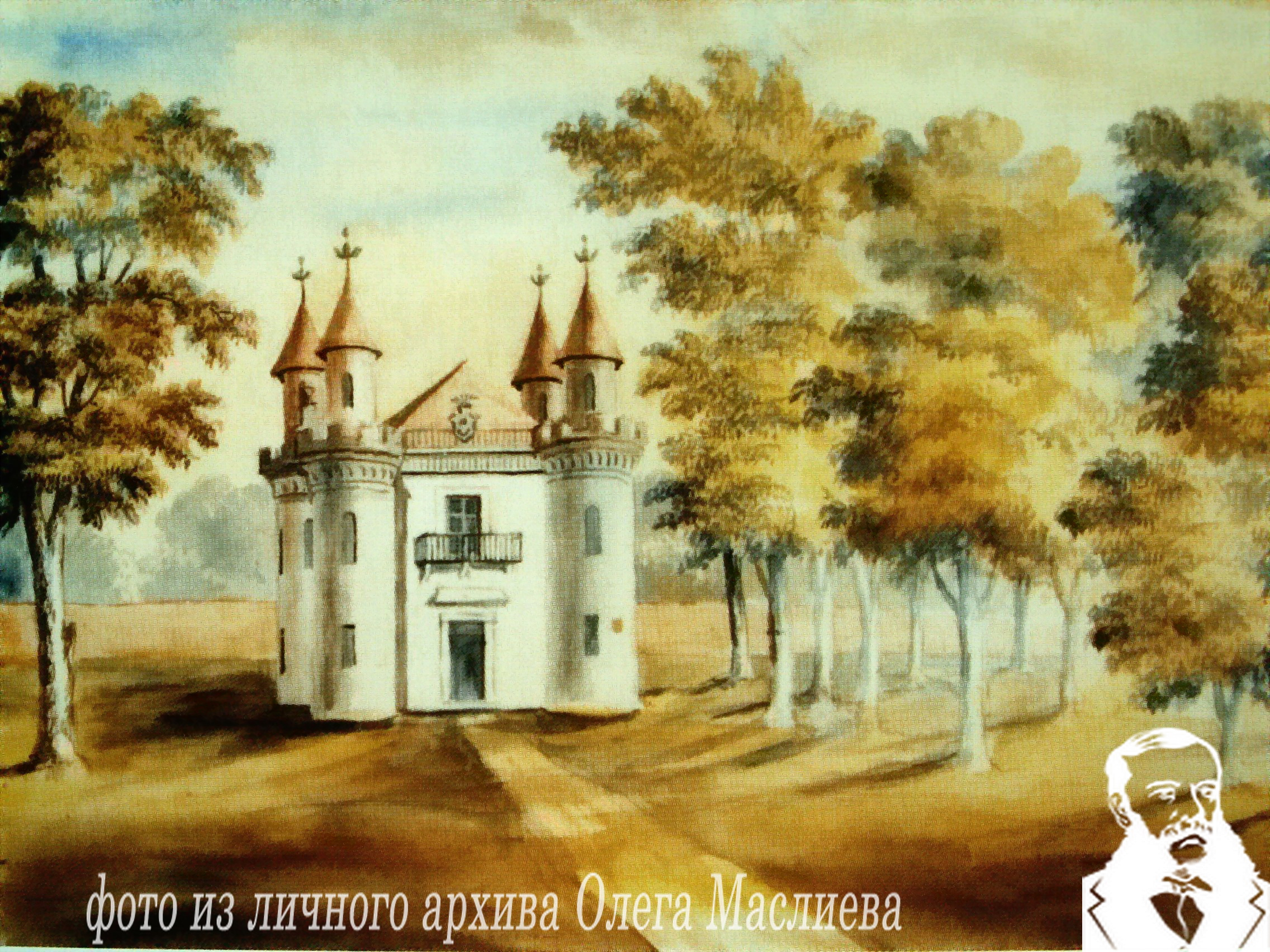 Павильон «Скарбница» в Станьково. Рисунок Н.Орда, 13.07.1876 года