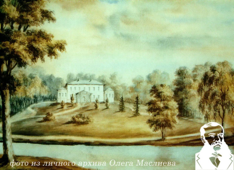 Дворец в Станьково, 1861 г. Рисунок Н.Орда, 13.07.1876 года