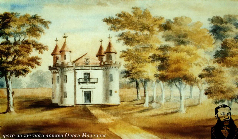 Павильон Скарбница в Станьково. Рисунок Наполеона Орды, 13 июля 1876 г.