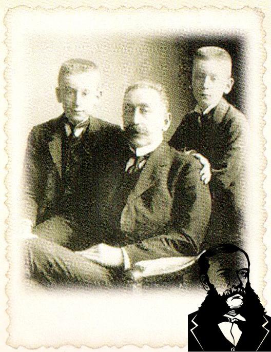 Юрий Чапский с сыновьями. Фото из книги.