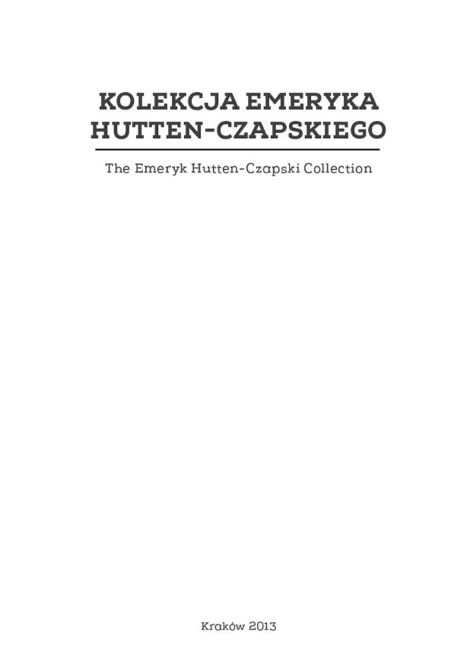 Kolekcja Emeryka Hutten-Czapskiego