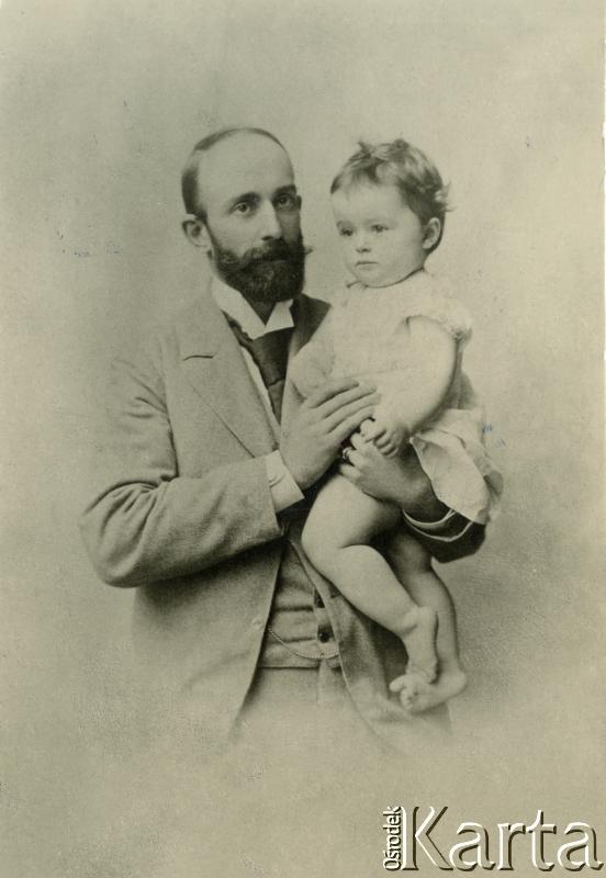 Кароль Ян Александр фон Гуттен-Чапский с своей дочерью Фабианой. Фото сделано было приблизительно в 1895 - 1897 гг. Коллекция: Grzegorza Daytona.